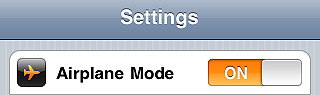 Set Airplane Mode on - iPhone tips