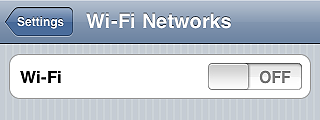 Turn off wi-fi - iPhone tips