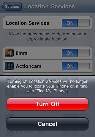 Turn off location services - iPhone tips