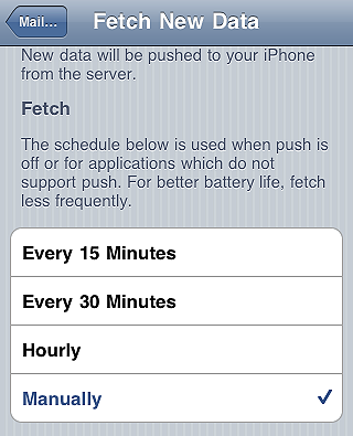 Fetch data manually - iPhone tips