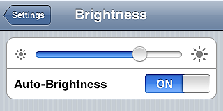 Set Screen Brightness to Auto - iPhone tips