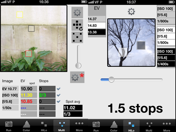 iZoner Light Meter iPhone