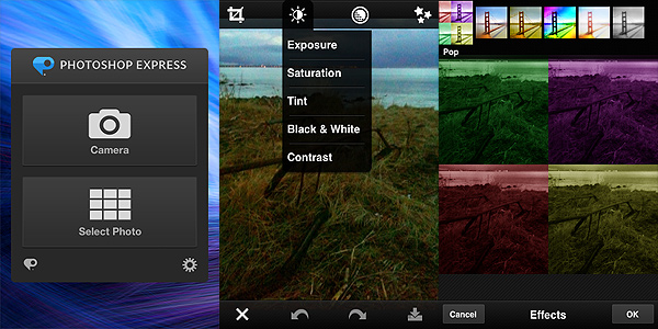 Photoshop Express by Adobe for iPhone