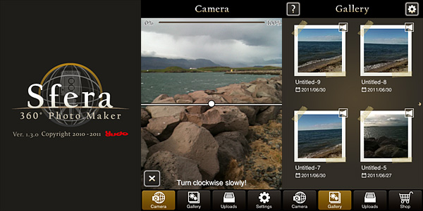 Sfera 360 photo maker by Yudo Inc. for iPhone
