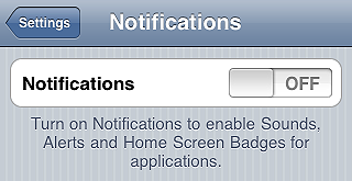 Disable push notifications - iPhone tips