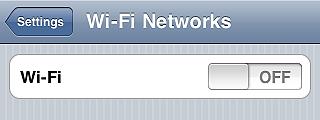 Turn off wi-fi - iPhone tips