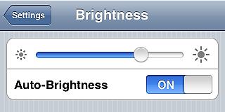 Set Screen Brightness to Auto - iPhone tips