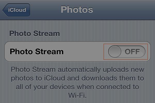 Resetting iCloud Stream
