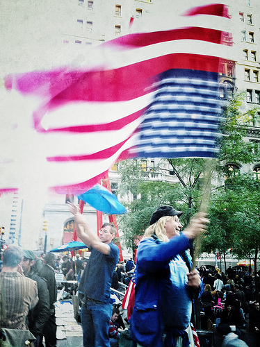Occupy Wall Street. Photo by Erika Plummer, taken with an iPhone 4.