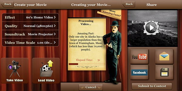 Silent Film Director App for iPhone by Macphun