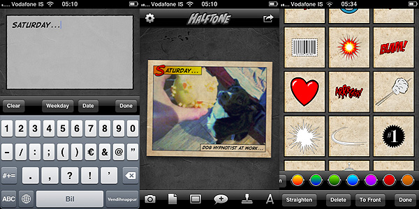 Halftone app by Juicy Bits for iPhone