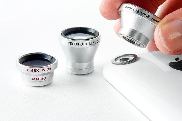 Photojojo camera phone lens kit.