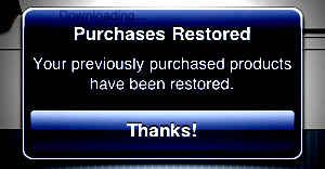 Restoring Purchases on iPhone and iPad