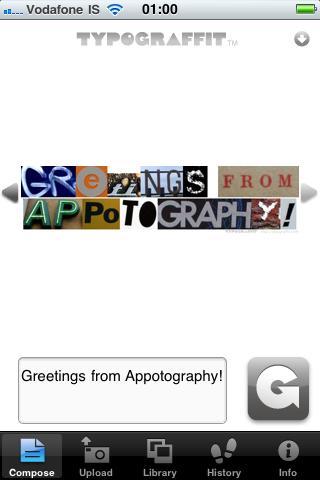 Typograffit iPhone